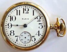 Antique Elgin GM Wheeler 18s 17j Pocket Watch 14K Gold Filled 1903