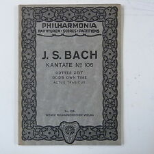 mini - pocket score BACH cantata 106