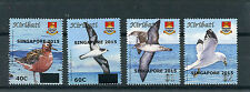 Kiribati 2015 MNH Birds Definitives Singapore 2015 OVPT 4v Set Seabirds Stamps