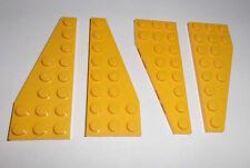 Lego (50304/50305) 4 Flügelplatten 3x8 (2x R.+2x L.), in gelb aus 7632 8275 7685