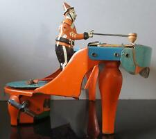 1930 Wolverine~ ZILOTONE MUSICAL Circus Clown WORKING Wind Up Automaton