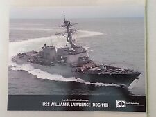 USS William P Lawrence DDG 110 Aegis Guided Missile Destroyer Ship Data Sheet