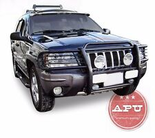 APU 1999-2004 Jeep Grand Cherokee Black Grille Guard Push Bull Bar Bumper Guard