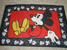 PILLOW CASE MICKEY MOUSE, OR FOR CRAFTS, MATERIAL SEWING RARE sheet sheets