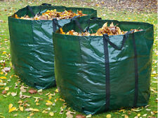 2 x HEAVY DUTY GARDEN BAG WASTE WEEDS LEAVES BIN CUTTING REFUSE SACK BAG 150L