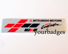 New Brushed Aluminium Mitsubishi Motors RalliArt Spirit of Competition Car badge