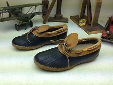 L.L. BEAN MADE IN USA DISTRESSED WINTER DUCK HUNTING MAINE RAIN BOOTS SIZE 9 B