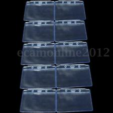 20X Clear PVC Plastic Pocket Wallet ID Card Pass Badge Holder Case Pouch
