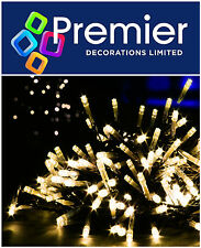 Premier 720 LED WARM WHITE Multi Action Supabright Christmas Tree Lights Outdoor