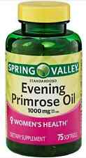 Spring Valley Evening Primrose Oil 1000 mg, 75 Softgels, Women's Health