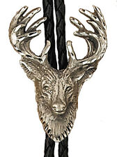 New! Western Stag Bolo Tie - Made in the USA