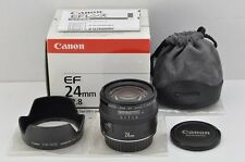 Canon EF 24mm F2.8 Wide Angle AF Lens for EOS EF Mount with Box MINT #161204r