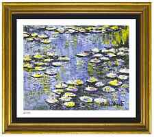 "Claude Monet Signed & Hand-Numbered Limited Edition ""Water Lilies"" Litho Print"
