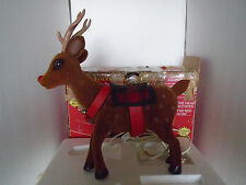 1990 Telco Motion-ettes Animated Illuminated Santa's Reindeer Rudolph