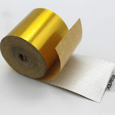 38mm x 10m Roll Adhesive Reflective Gold High Temperature Heat Shield Wrap Tape