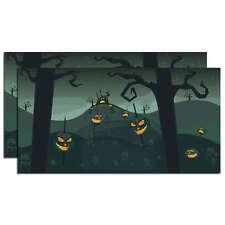 SVH Snow Village Halloween Spooky Backdrop Dept 56 D56 NEW 4025413 Set of 2