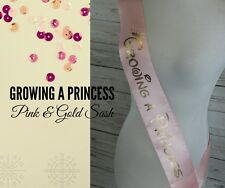 Mommy to Be Baby Shower Sash Growing a Princess to Wear Custom Made includes Pin