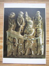 Unused postcard Antique Bronze plaque Palace of Benin King Nigeria Africa 17thC