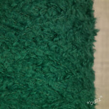 SUPER SOFT KID MOHAIR MERINO WOOL GREEN 500g CONE 10 BALLS LOOP BOUCLE YARN