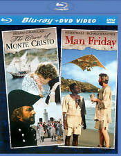 BLU-RAY Count of Monte Cristo & Man Friday (Blu-Ray +DVD) NEW