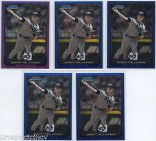 Lot of (137) Jeremy Hellickson 2012 Bowman Chrome COLOR Cards - TB Rays SP