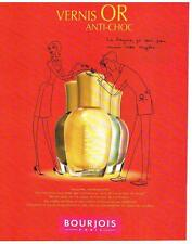 PUBLICITE  ADVERTISING  1994  BOURJOIS  par elene uodin cosmétiques vernis