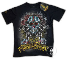 EMPEROR ETERNITY  T-Shirt old style Tattoo con STRASS SKULL style  Ed Hardy