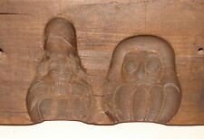 ANTIQUE AAFA HAND CARVED WOODEN CHOCOLATE MOLD MOULD