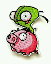 Invader zim Gir and piggy iron on patch 80mm x 90mm