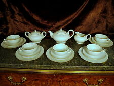 RS Japan Porcelain Set UNIQ TEXTURE Tea Pot Sugar Creamer Cups Saucers & Plates!