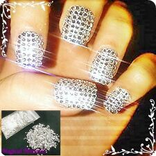 2000 Pieces 1.5mm clear/ Silver Round  Diamante Diamond Nail Gems Art Crystal