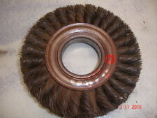 """Weiler 09180  6"""" Twisted Wire Brush Wide 2"""" arbor .016 Wire size USA Double Row"""