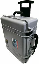"Pelican ""Colors"" series Silver / Grey & Black 1560 Case With Trekpak dividers."