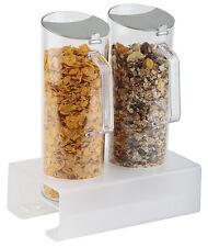 Cerealienspender 8cm hoch mit 2 Karaffen Cerealien-Bar Müsli Cornflakes Buffet