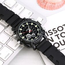 1080P Waterproof IR Night Vision Silicon Strap Watch Record Camera 8GB JL