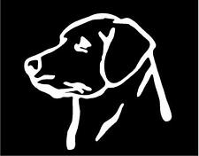 WHITE Vinyl Decal Labrador head truck puppy dog hunt lab country sticker