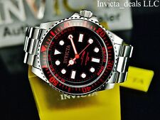 Invicta Men's 43mm Red Stingray Pro Diver Swiss Parts ISA Black Dial SS Watch
