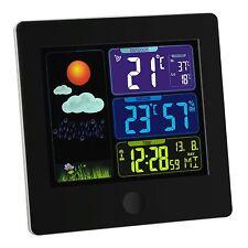 SUN Funk Wetterstation Wecker Uhr-Wettervorhersage mit Symbolen, Snooze