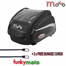 MOTORCYCLE TANK TANKBAG 16L LUGGAGE MOTORBIKE WATERPROOF FREE BUNGEES MAGNET