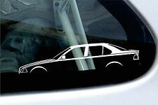 2x car silhouette stickers - for BMW E36 3-series saloon 318i 320i 325i