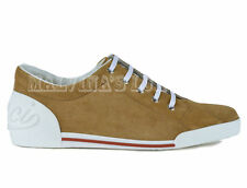 GUCCI LADIES SNEAKERS CAMEL SUEDE LEATHER LOGO BACK WEB SIDES sz 38.5G / 9