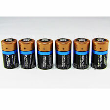 6 x CR2 Duracell 3V Ultra Lithium Batteries ( DLCR2, CR17355, ELCR2, Med, Photo)