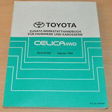 Werkstatthandbuch Reparatur Toyota Celica 4WD Fahrwerk und Karosserie Zusatz 94