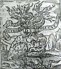 THE APOCALYPSE 1620 by Saluthio HELL HEAVEN Dante MILTON Bible OCCULT