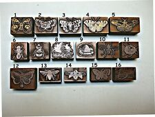 """BUTTERFLIES, BEES & INSECTS"" Printing Blocks."