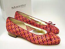 MARETTO Italy Designer Damenschuhe 6231 Ameta Rosso Leder Schuhe Gr. 36,5 NEU