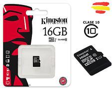 TARJETA MEMORIA 16GB  KINGSTON CLASE 10 MICROSD 16 GB MICRO SD 32 MOVIL KM16C10S