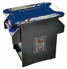 cocktail arcade game with 60 games 2yr warranty, trackball and 2 stools  new