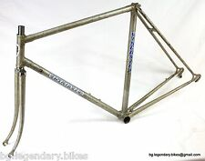 VINTAGE Race bike Frame Set Viscontea Italian Made Lugged Steel Zeus Dropouts