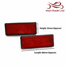 BICYCLE BIKE SAFETY REFLECTOR MUDGUARD RECTANGLE RED REFLECTOR 88mm - 6 PIECE